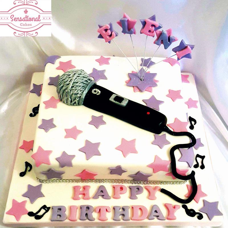 Microphone Cake Sensational Cakes