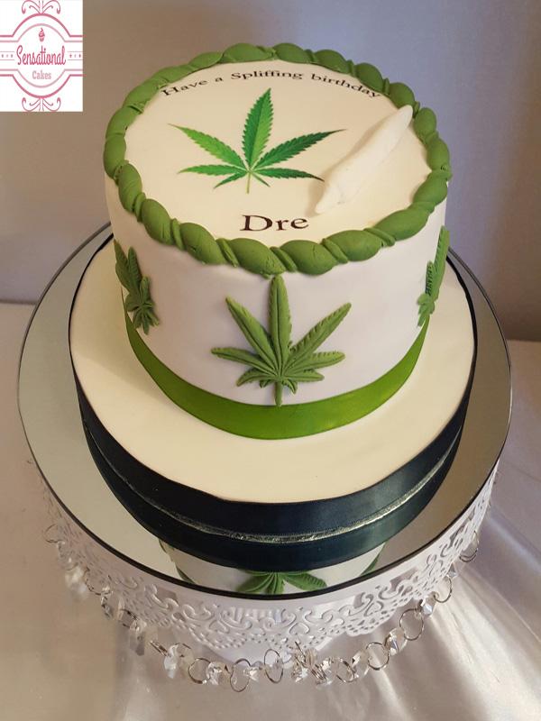 Cannabis Leaf Cake