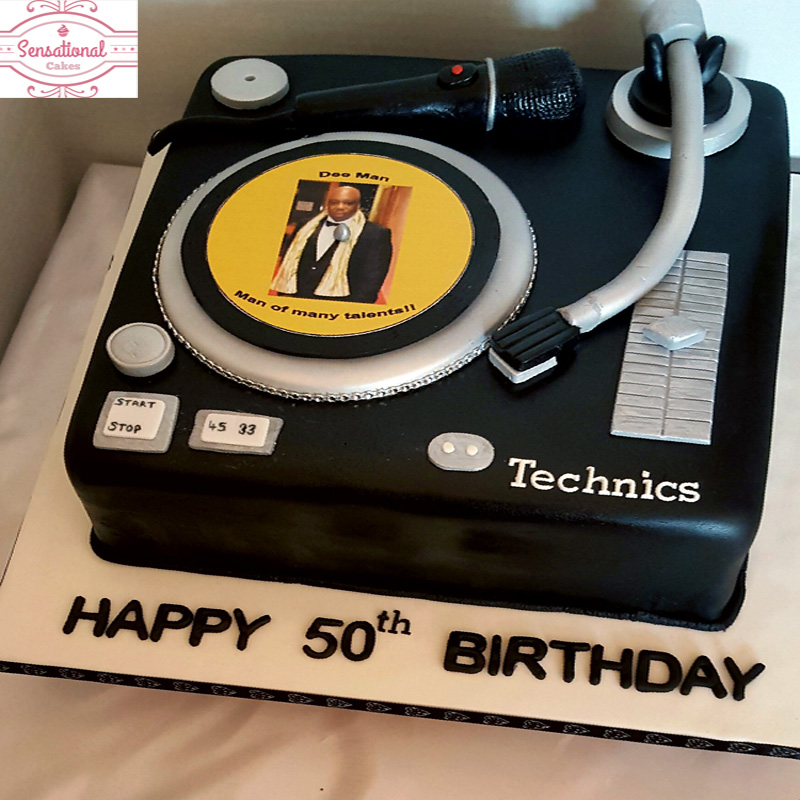 Dj Birthday Cake Sensational Cakes