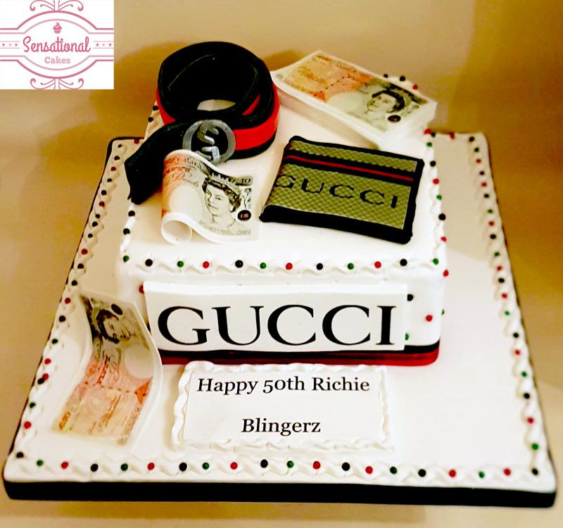 Men S Gucci Birthday Cake Sensational Cakes