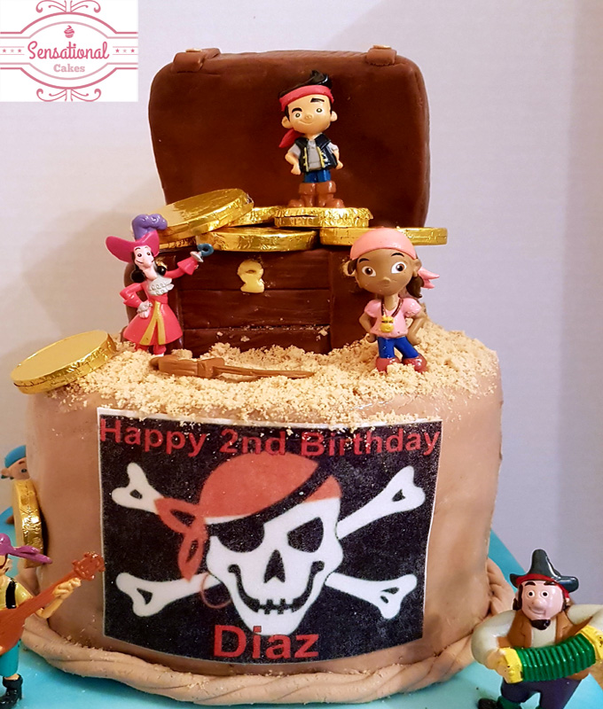 Pirate Cake Close Up Sensational Cakes
