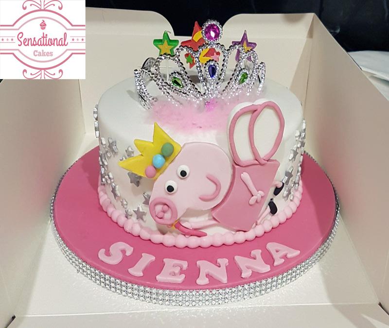 Peppa Pig Birthday Cake Sensational Cakes
