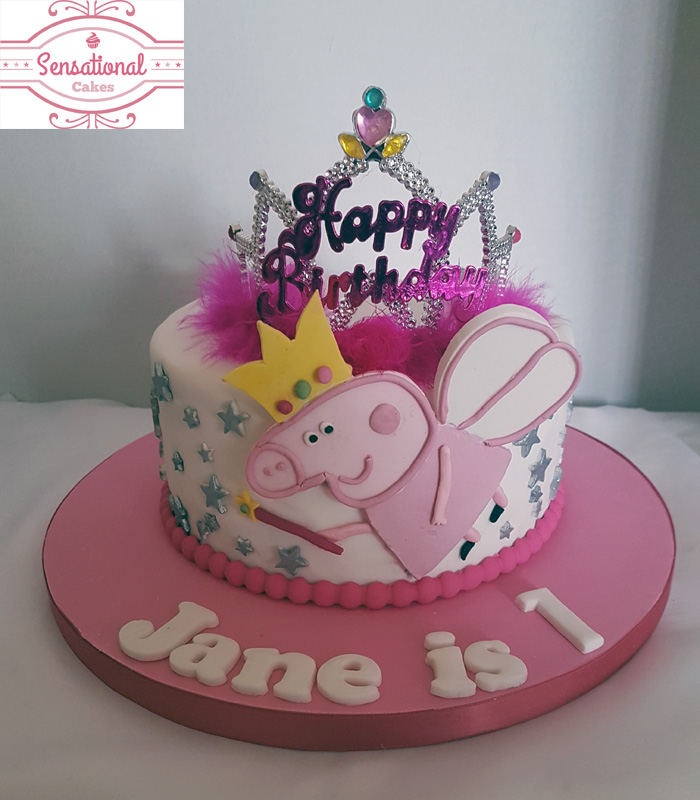 Peppa Pig With A Tiara Birthday Cake Sensational Cakes