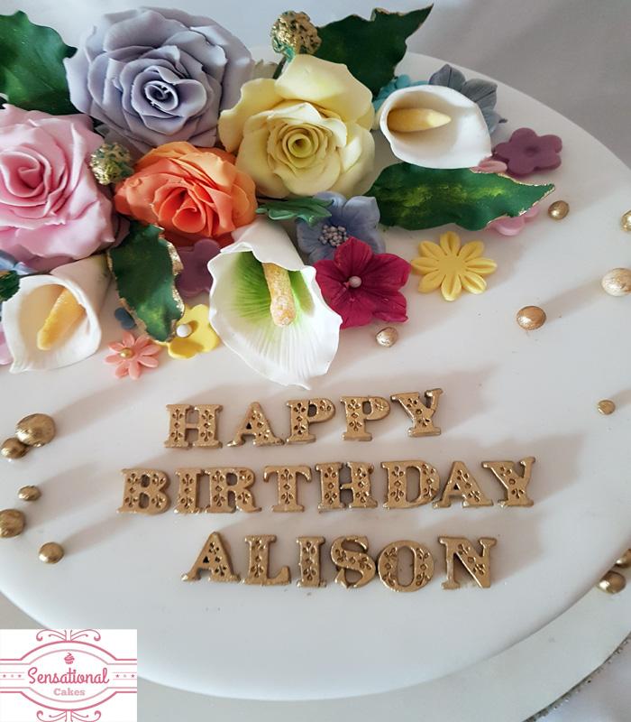 Floral Cupcake Cake