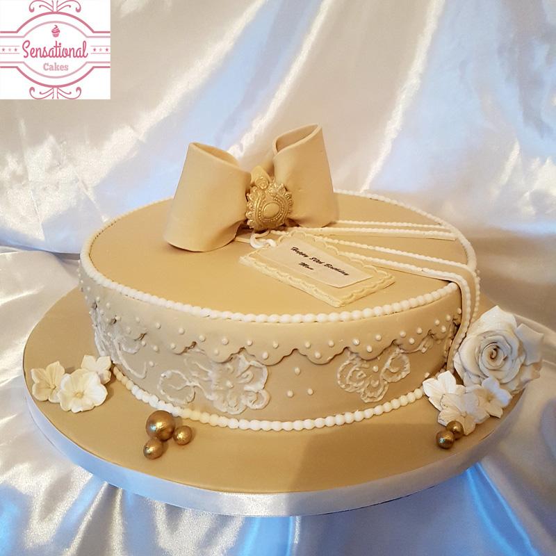 Hat box cake/Gift box 80th birthday cake - Sensational Cakes