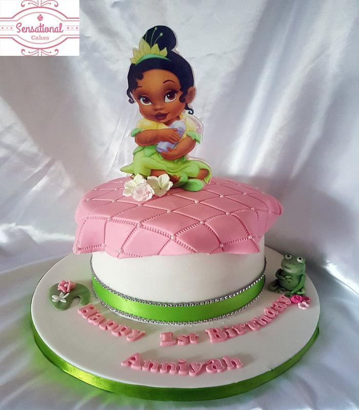 Baby Princess And The Frog Birthday Cake Sensational Cakes