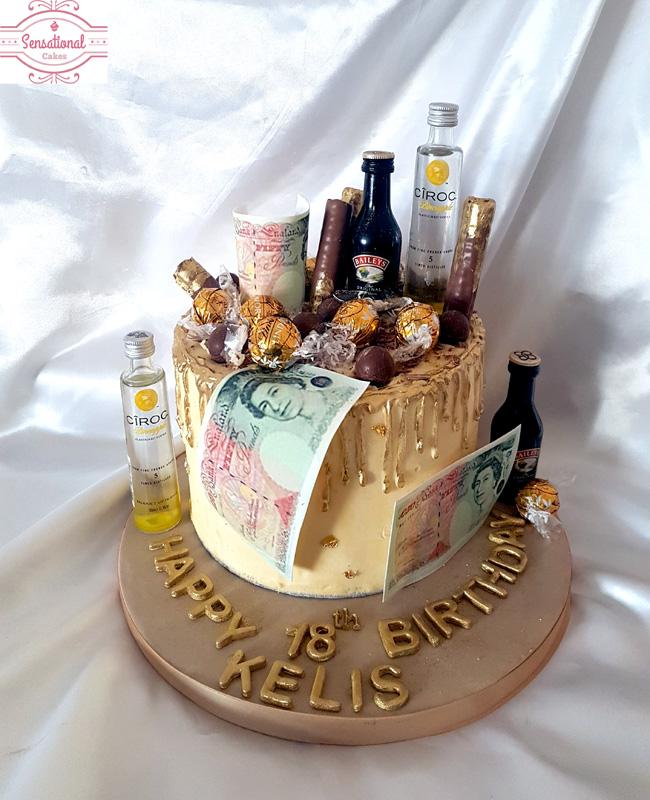 Drip Cake 18th Birthday Sensational Cakes